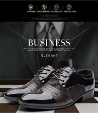Black Brown Mens Zapatos Hombre Chaussure Casual Oxford Dress Formal Wedding