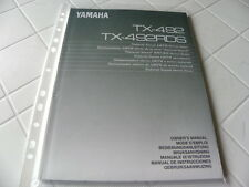 Yamaha TX-492 /492RDS Owner's Manual  Operating Instructions Istruzioni   New