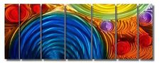 Colorful Abstract Modern Metal Wall Art Painting Home Decor - Simple Elation XL