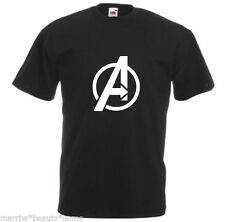 black avengers superhero mens loose fit cotton t shirt  film movie new XXL