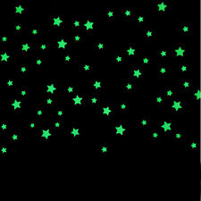 100PC Kids Bedroom Fluorescent Glow In The Dark Stars Wall Stickers Green Gift