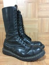RARE�� The Original Gripfast Tall Combat Steel Toe Boots Made In England 12UK