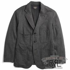$590 RRL Ralph Lauren 1920s Wool Cotton Jaspé Sport Coat Jacket-MEN- L