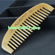 Hot Sale Natural wide tooth Peach wood no-static massage hair wood comb on sale!