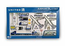 Kids Toys 24-Piece Airport Play Set United Airlines With 2 Airplanes/Accessories