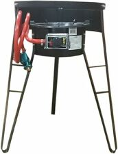 """Acero Ware 32"""" Tripod Stove Stand with Wind Shield with Gas Burner & Burner Hose"""