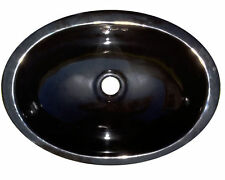 #142 SMALL BATHROOM SINK 16x11.5 MEXICAN CERAMIC HAND PAINT DROP IN UNDERMOUNT