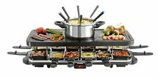 VonShef Raclette Party Grill with 6 Fork Fondue Set & 12 Raclette Pans 13/033US