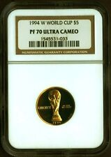 1994 W WORLD CUP $5 Gold proof Coin NGC PF 70 PF70 ULTRA CAMEO
