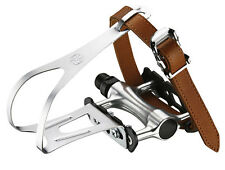 VP Components - VP-189 - Road Bike Pedals with Toe Clips & Straps
