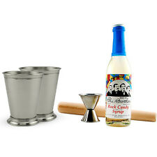 Mint Julep Kit- Includes Rock Candy Syrup + Muddler + Jigger + (2) Drinking Cups