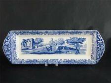 Lovely Spode Blue Italian Slim Mint Tray - Made in England                 s1570