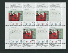 SLOVENIA 1993 CONTEMPORARY ART complete sheetlet of 4 pairs VF MNH
