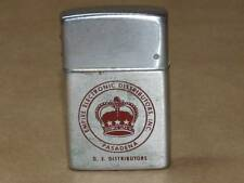 Vtg Brown & Bigelow Wind Master Brushed Chrome Advertising Pocket Lighter