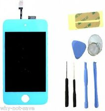 Glas LCD SCREEN digitizer BLUE display replacement for IPOD TOUCH 4TH 4 a1367