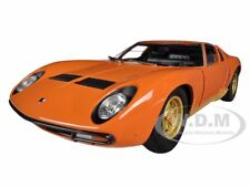 1971 LAMBORGHINI MIURA P400 ORANGE 1/18 DIECAST CAR MODEL BY WELLY 18017