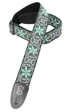 """Levy's Guitar Strap, M8HT-11, 2"""" 60's Hootenanny Jacquard Weave w/ Leather Ends"""