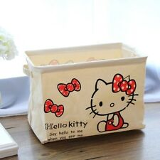 Hello Kitty Linen Foldable Laundry Basket Tidy Clothes Socks Storage KK867