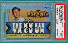2012 Topps Triple Threads Relics Brooks Robinson Game Used Jersey #TTRL PSA 9!
