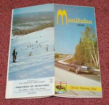 1968 Manitoba Canada Official Highway road map Cadillac