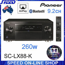 Pioneer SC-LX88-K 9.2 4K 3D 260W Dolby Atmos Bluetooth Receiver - (Ex-Display)