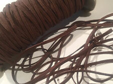 "5 yards chocolate brown 1/8"" thin skinny elastic DIY baby headband & accessories"