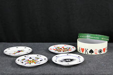Poker Plate Set of 4 Lets Make A Deal By Rosanna