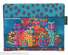 Laurel Burch Cat Feline Clan Tablet Case Padded about 11x9 iPad eReader New