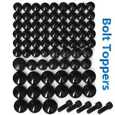 75x black bolt toppers cover caps kit pour harley davidson softail twin cam 07-13