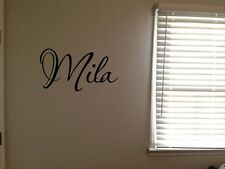 Custom Mila Girls Room Name Nursery Baby Kids Pretty Vinyl Wall Quote Sticker