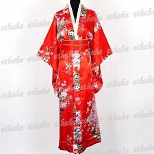 Deluxe Kimono Vestaglia Accappatoio Yukata Giapponese Rosso Taglia Unica ERCI4V