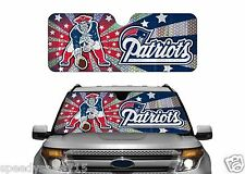 "NFL New England Patriots Sun Shade 57"" x 33"" Sunshade Football New Free Shipping"