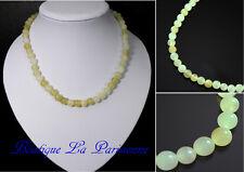 Natur Kette Serpentin 8 mm L 48 Perlenkette Halskette Edelstein Collier Jade