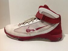 Sz 18 RARE 2009 NIKE AIR HYPERMAX MEN'S white & Red HI TOP SNEAKERS
