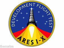 "4""  ARES 1-X FLIGHT TEST NASA HELMET BUMPER EMBLEM DECAL STICKER MADE IN USA"