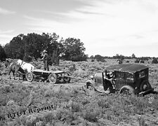 Photograph Vintage Car Stuck In Mud Pie Town New Mexico 1939c 8x10