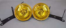 "3""  UNIVERSAL 12V H3 55W YELLOW FOG LIGHTS DRIVING LAMPS  SET PAIR CIVIC ACCORD"