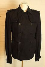 "ALLSAINTS Mens LINEN REVENGE PEA COAT Jacket - Size 36 - 36"" Chest - ALL SAINTS"