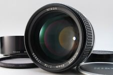 [N Mint] Nikon Ais Ai-s Nikkor 85mm F1.4 MF Lens w/Hood, Filter from Japan #102