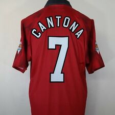 MANCHESTER UNITED HOME FOOTBALL SHIRT ADULTO LARGE CANTONA # 7 1996/1998