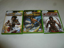 XBOX GAME LOT OF 3 PRINCE OF PERSIA THE SANDS OF TIME WARRIOR WITHIN TWO THRONES