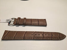 New - Light Brown Leather Strap - 20 mm - Correa Piel - Bolle Alligator Calf