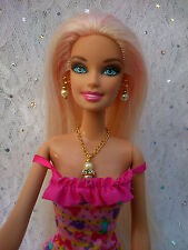Gold/silver Plated Necklace, Earrings/Bracelet For Barbie & Sindy Sized Doll S2