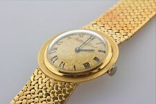 Vintage Mathey Tissot Watch 18K 750 Solid Gold Mesh Bracelet-Automatic Windup