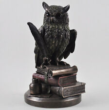 Bronze Owl Statue Vintage Style Steampunk Ornament Very Detailed Office 31080