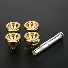 Trumpet Mouthpiece Set Convertible Silver Gold Plated Size of 7C 5C 3C 1 1/2C