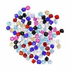 100Pcs Assorted Color Faceted Glass Crystal Nice Bead Spacer Bicone Finding 4mm