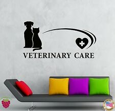 Wall Stickers Vinyl Decal Vetirenary Care Hospitals Pets Animals  (z1945)