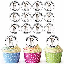 Jack Russell 30 Personalised Pre-Cut Edible Birthday Cupcake Toppers Decorations