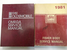 1981 Oldsmobile Olds OMEGA Service Shop Repair Manual FACTORY DEALERSHIP OEM